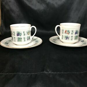 Pair of ROYAL DOULTON TAPESTRYY Teacups and Saucers