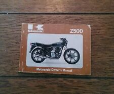 KAWASAKI Z500 B3 OWNERS  MANUAL/ HANDBOOK / BOOKLET