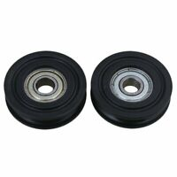 2PCS U Groove Sealed Ball Bearing Wire Rope Track Guide Pulley Bearing 8x40x10mm