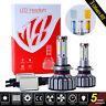 4côtés LED Headlight Kits H7 Hi/Low poutres 12800lm de 120W 6000K 3 couleurs DIY