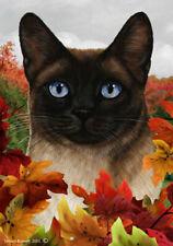 Fall Garden Flag - Siamese Cat 139531