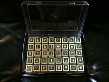 40 Retired Rubber Stamp Set Alphabet Numbers Lower Case ABC Punctuation