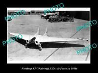 OLD HISTORIC AVIATION PHOTO, NORTHROP XP-79 AIRCRAFT, USA AIR FORCE c1940