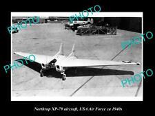 OLD HISTORIC AVIATION PHOTO, NORTHROP XP-79 AIRCRAFT, USA AIR FORCE c1940