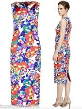 MARKS AND SPENCER SPEZIALE BRIGHT FLORAL BODYCON DRESS ITALIAN FABRIC