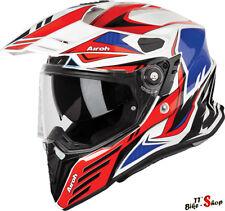 """Airoh comandante """"carbon"""" casco de bicicleta en rojo-blanco-azul, talla S - 55/56, casco"""