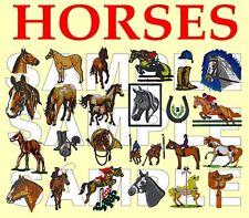 2 en 1 mon petit poney et chevaux Machine à Broder Designs sur un cd.