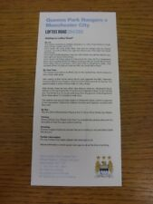 08/11/2014 Queens Park Rangers v Manchester City - Manchester City Away Day Trav