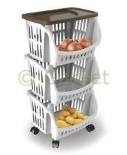 Küchenregal eckig schmal Obstregal Küchen Trolley Etagen Roll Wagen Schrank
