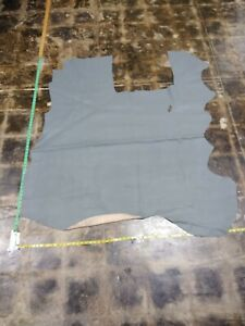 """Cowhide Top Quality leather skin hide Saffiano grey 45"""" x 50"""" Inches 4 oz."""