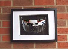 Lewis Hamilton firmato VISIERA MERCEDES FORMULA UNO F1