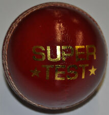 Cricket Ball Red Leather 4 piece ball (Pack Of 6)