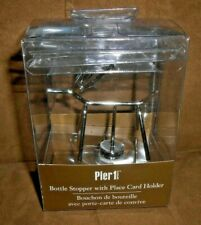 New listing Pier 1 Silver Modern Reindeer Wine Bottle Stopper With Place Card Holder New