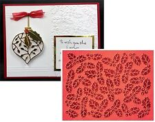 Couture Creations embossing folders CHAMPAGNE & HOLLY folder Holidays,Christmas
