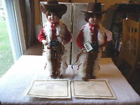 """Heritage Signature Collection Set Of 2 # 12360 """" RUSTY """" Porcelain Dolls """" IOB """""""