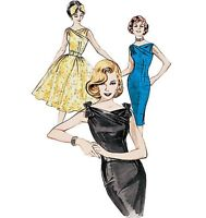 50s 60s style dress sewing pattern, Butterick B6582, size 6-22 retro vintage