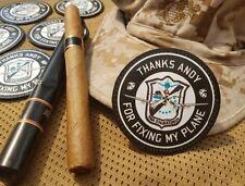 SNAKE PATCH - THANKS ANDY Sgt MICKLIN blacksheep TETE BRULEES F4U CORSAIR VMA214