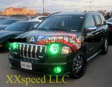ORACLE Jeep Compass 2007-2010 GREEN LED Headlight + Foglight Halo Angel Eyes Kit