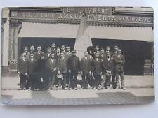 03C24 CPA CARTE PHOTO GROUPE DE SOLDAT 21e REGIMENT DE DRAGONS POILU 14/18 WWI