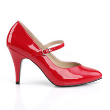 Red Patent Pinup Heels Mens Drag Queen Crossdresser Pumps Shoes Womans 14 15 16