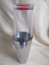 Glass & Stainless Steel  Tanqueray Gin Boston Style  Cocktail Shaker Unused