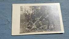 Early 1900's Vintage Postcard Group Of Hunters Rifles Shotguns RPPC