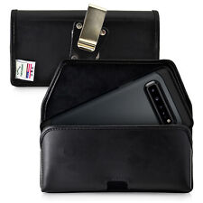 Samsung Galaxy S10 5G Belt Holster Pouch Leather with Rotating Clip, Horizontal