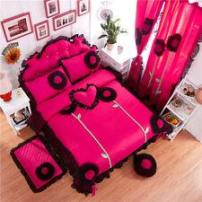 9pc. 100% Cotton Princess Luxury Lace Dandelion Duvet Cover Bedding Set