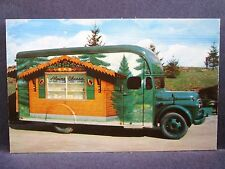 Postcard OH Wilmot Alpine Alpa Cheese Chalet Mobile Cheese Truck Wagon