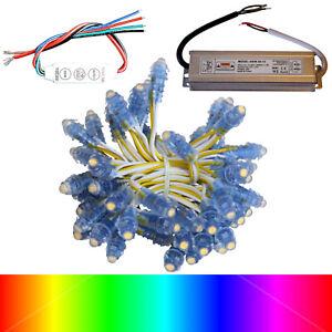 50X LED Pixel Module RGB Lichterkette rot blau grün weiß IP 68 Travo 4,99 EUR/m