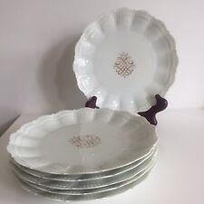 6 Assiettes Porcelaine Limoges Giraud Brousseau style Gilles Leleu René Prou 1