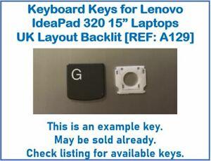 "Keyboard Keys for Lenovo IdeaPad 320 15"" Laptops UK Layout Backlit [REF: A129]"