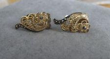Vintage Sterling Silver German Marcasite Earrings Signed