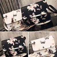 Women Small Floral PU Leather Crossbody Purse Shoulder Mini Purse Messenger Bag