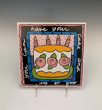 "Sandra Magsamen 1992 ""have your cake and eat it too"" Table Tiles"