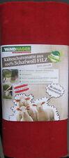 3 x Windhager Schafwoll Filzmatte 200cmx50cm rot Kälteschutzmatte Pflanzenschutz