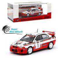 Tarmac Works - Mitsubishi Lancer Evolution V Sanremo Rally 1998 #1 Winner 1:64
