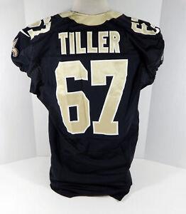 2012 New Orleans Saints Andrew Tiller #67 Game Issued Black Jersey NOS0122