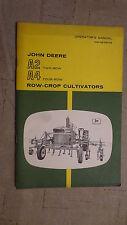 John Deere A2 Two-Row  A4 Four -Row Row-Crop Cultivators Manual OM-N97512N