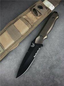 "Benchmade Nimravus Fixed 4.5"" Plain Half Serrated Blade, (Brand New)"