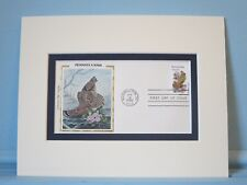 State Bird & Flower of Pennsylvania- the Grouse & Mount Laurel & First Day Cover