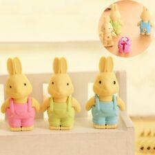 Cute Rabbit Eraser for Kids School Supplies Creative Stationery Random Toys Gift