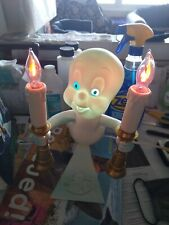 1996 Casper the Friendly Ghost Candelabra Light Up Candles Trendmasters With Box