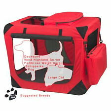 "Pet Gear Generation II Deluxe Portable Soft Crate 26.5"" Red Poppy 30lbs"