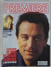 Revue Première n°162 Septembre 1990 Nathalie Baye Robert de Niro