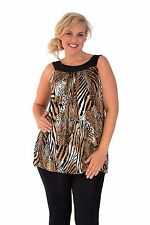 Animal Print Tunic Casual Plus Size Tops & Blouses for Women