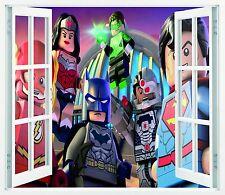 Mural vinilo impreso ventana LEGO SUPER HEROES  87CMX100CM  N37