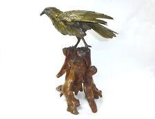 XXL Taille XXL Oiseaux sur le Wurzelholzsockel Bronze Japon vers 1860