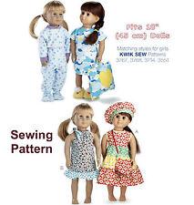"Kwik Sew K3771 Pattern 18"" Doll Clothes OSZ BN"