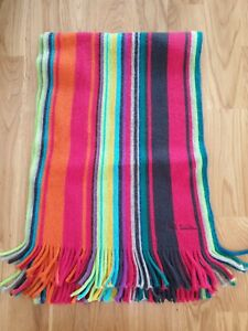 PAUL SMITH Pure New Wool Striped Scarf